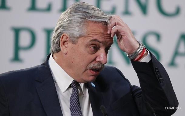 ПЛР-тест підтвердив зараження COVID-19 у президента Аргентини