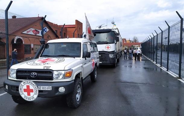 Червоний Хрест відправив ще 100 тонн гуманітарної допомоги в ОРДЛО