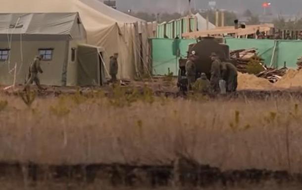Виклали відео військового табору РФ біля Воронежа