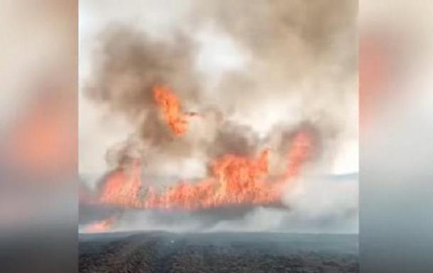 На Луганщині прокотилася серія підпалів сухостою