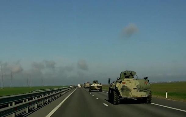 В Крыму интенсивно перемещается военная техника РФ