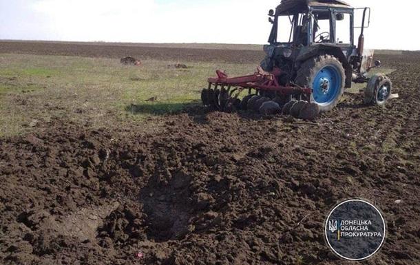 В Донецкой области подорвался тракторист