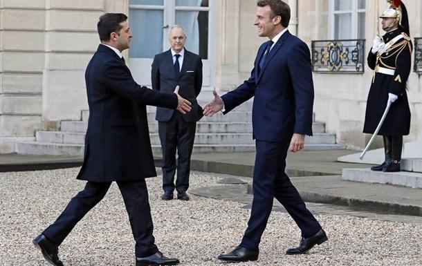 У Парижі почалася зустріч Зеленського і Макрона