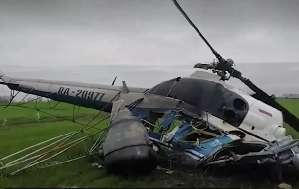 В России потерпел крушение вретолет, пилот погиб