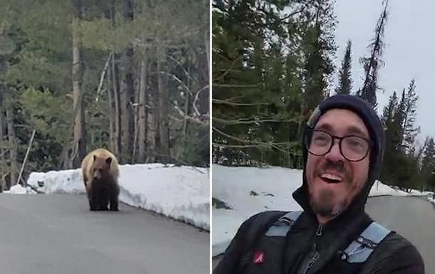 В США медведь преследовал бегуна