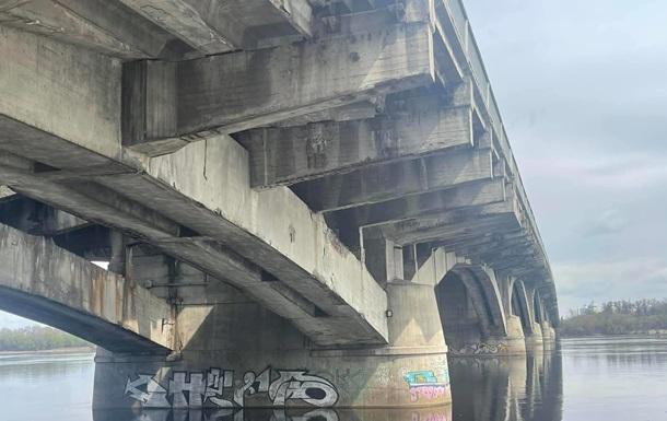 На фото показали состояние киевского моста Метро