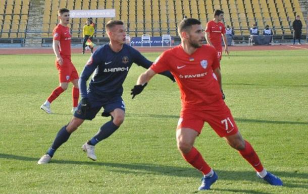 Дніпро-1 розгромило Минай, тричі забивши в першому таймі