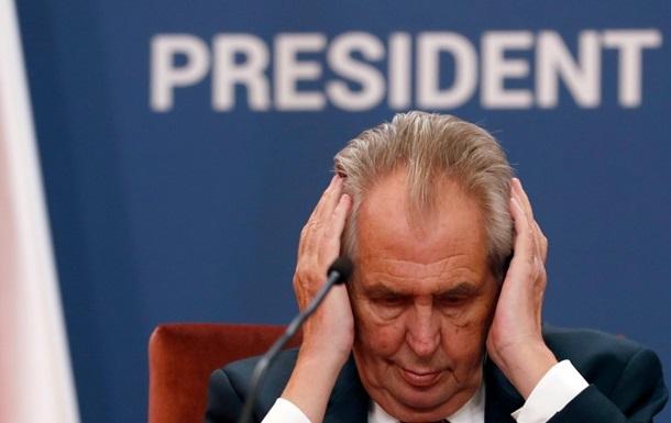 Президент Чехії виступить з надзвичайним телезверненням
