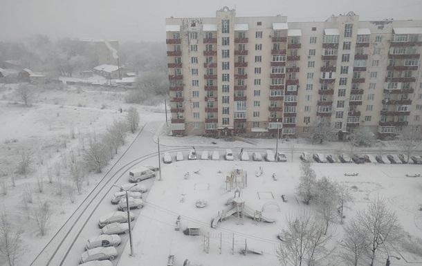 В Украине прошли снегопады