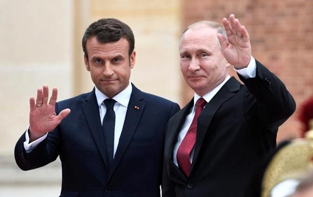 Макрон и Путин обсудили Украину