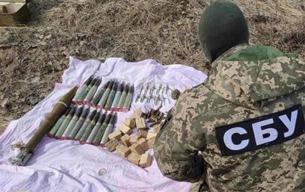 На Луганщині СБУ виявила тайники зі зброєю