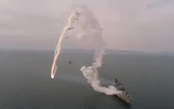 Невдалий запуск ракети фрегатом РФ зняли на відео