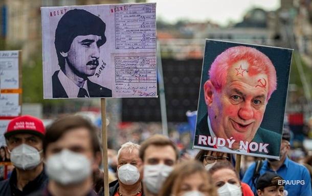 Протесты в Праге против президента. Фоторепортаж
