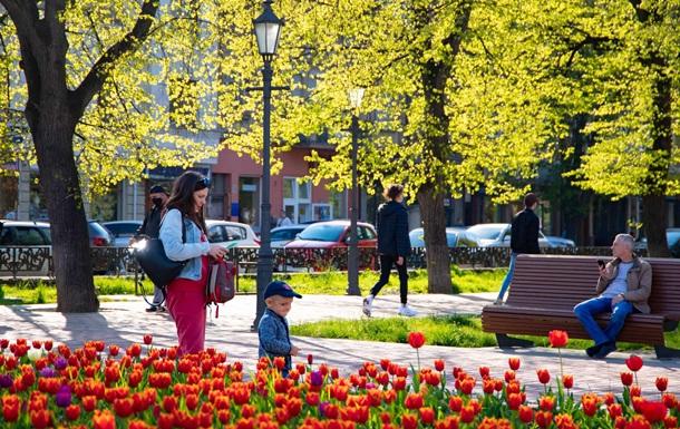 В Ужгороде цветут десятки тысяч тюльпанов