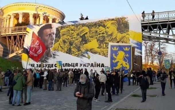 На участника марша сторонников дивизии СС Галичина завели дело
