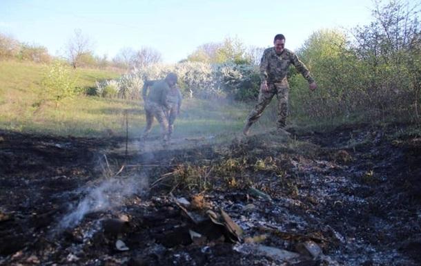 Сепаратисты устроили пожар с помощью ракеты