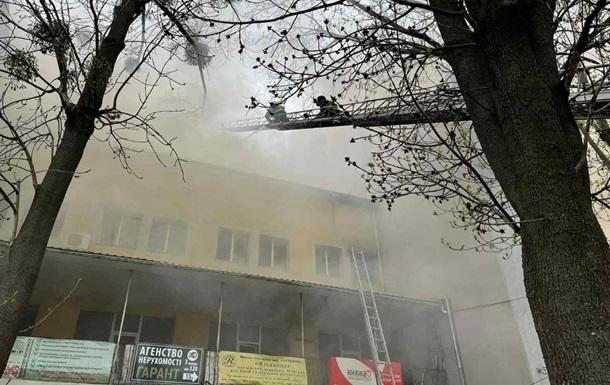 В Виннице ликвидировали масштабный пожар