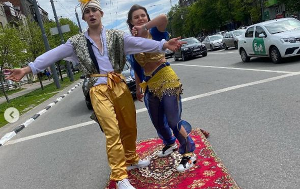 В Харькове оштрафовали водителя, который катал Алладина
