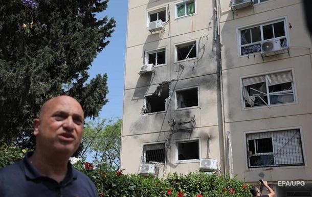 Опубликованы фото последствий обстрела по Израилю