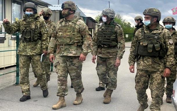 Американские военные дипломаты провели три дня на Донбассе