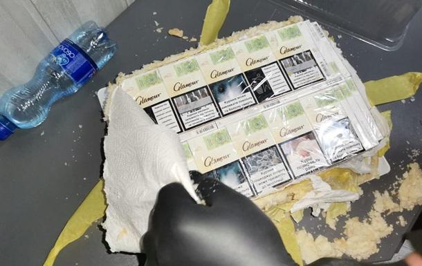 Задержан контрабандист с  сигаретным  тортом