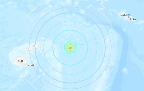 Біля берегів Фіджі стався землетрус магнітудою 6,5