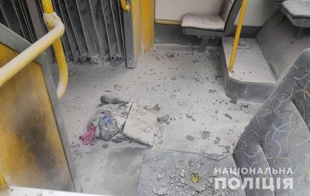 В Киеве от  коктейля Молотова  загорелся троллейбус с пассажирами