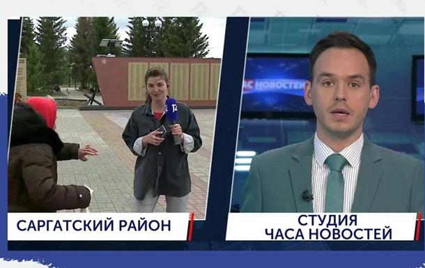 На журналистку во время эфира напала старушка