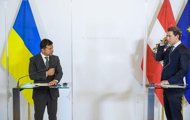 Зеленський обговорив із канцлером Австрії Донбас