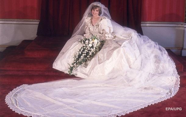 Публике показали свадебное платье принцессы Дианы