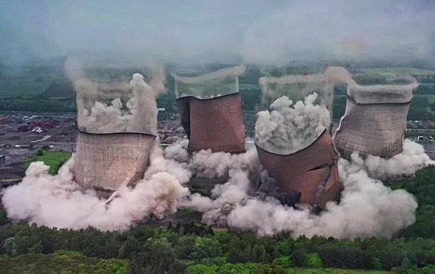Знесення вибухом британської ТЕЦ показали на відео