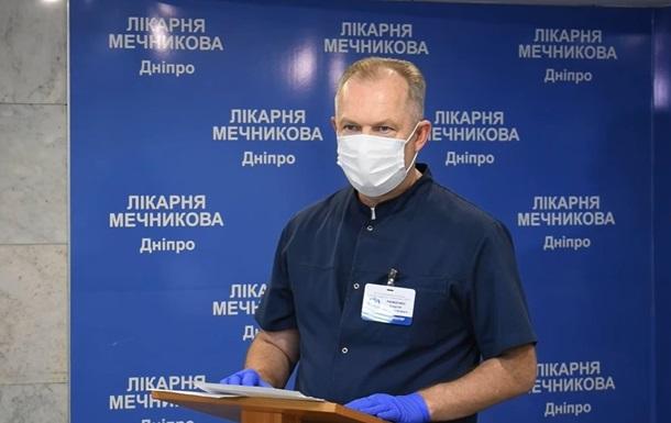 В Днепре спасли COVID-больного с поражением легких на 100%
