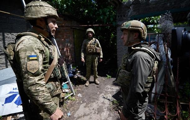 Зеленский побывал на передовой на Донбассе