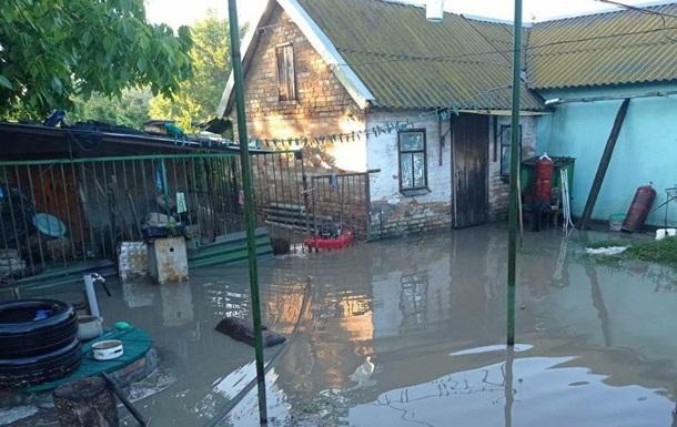 Мелитополь затопило дождевой водой