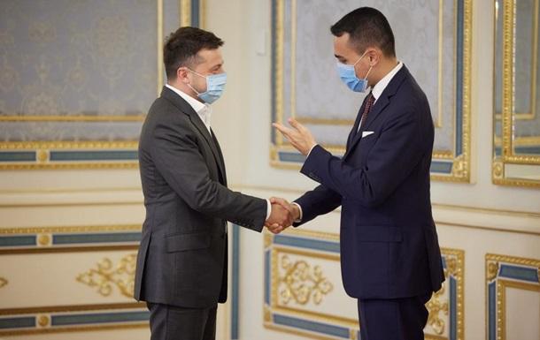 Зеленський провів переговори з главою МЗС Італії