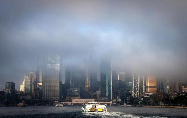 На Сідней опустився густий туман