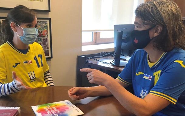 Форму сборной Украины наделы сотрудники еще одного посольства