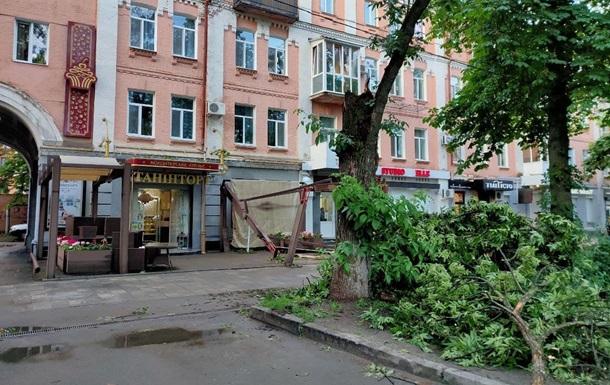 Непогода в Украине: смерч и сваленные деревья