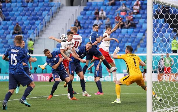 Польща поступилася Словаччині в матчі з видаленням і історичним автоголом