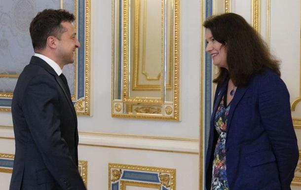 Зеленський зустрівся з головуючою з ОБСЄ