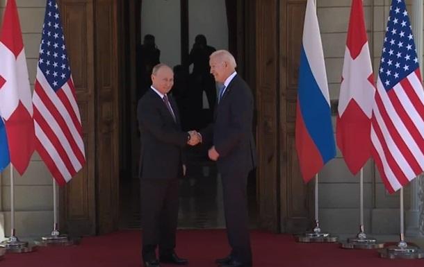 Началась встреча Байдена и Путина
