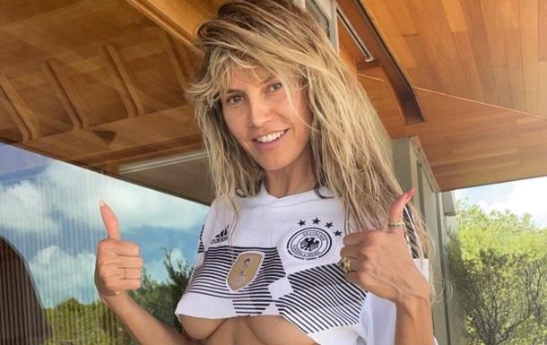 Хайди Клум  грудью  поддержала сборную Германии