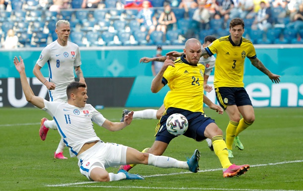 Швеція - Словаччина 1:0. Відео гола й огляд матчу Євро-2020