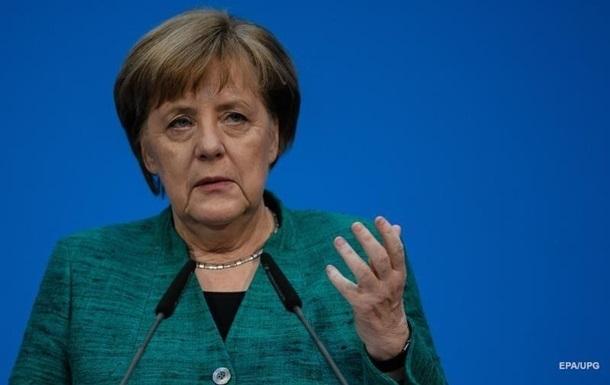 Меркель упомянула Крым и Донбасс в своей речи