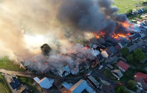 В Польше масштабный пожар: сгорели почти полсотни зданий