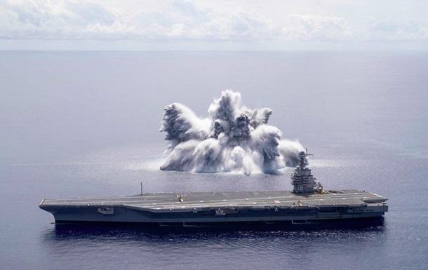 У США авіаносець перевірили 18-тонною бомбою