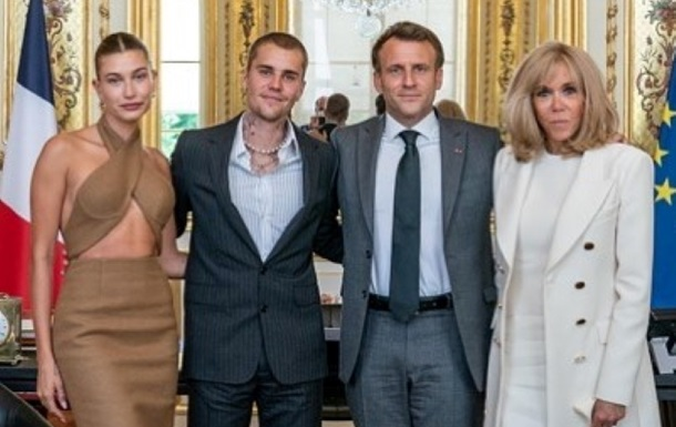Джастин Бибер встретился с президентом Франции