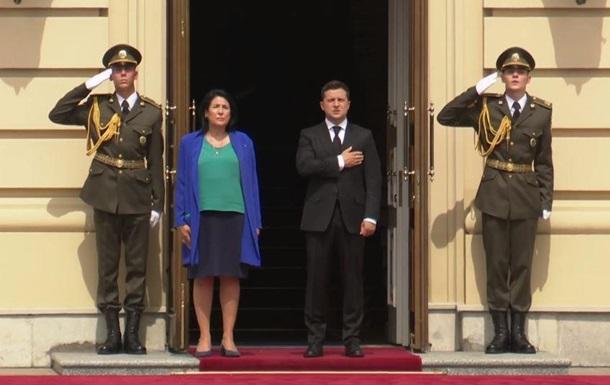 Началась встреча Зеленского с президентом Грузии