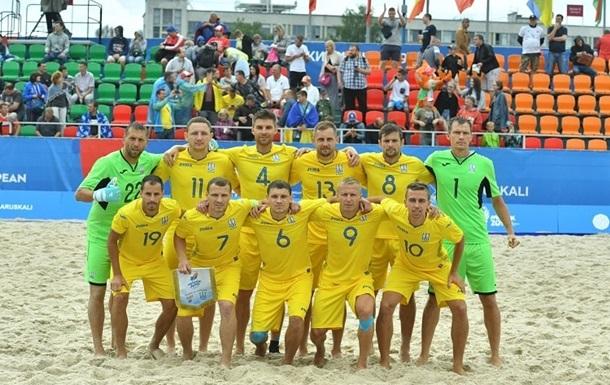 Сборная Украины по пляжному футболу уступила Португалии, но вышла в плей-офф отбора на ЧМ-2021