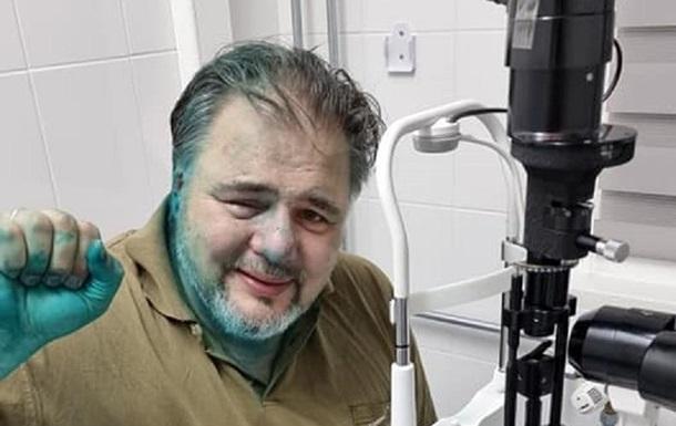 В Івано-Франківську облили зеленкою Руслана Коцабу